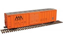Atlas Master Line N Scale 50' FMC 5077 Single Door Box Car, Vermont Railway No.4112 - 50003444