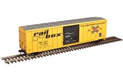 Atlas Master Line N Scale 50' FMC 5077 Single Door Box Car, Railbox No.17800 - 50003450