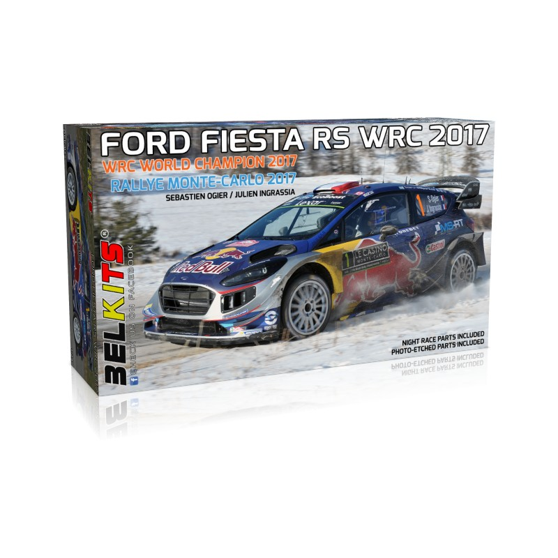 belkits 1 24 ford fiesta rs wrc 2017 bel012 up scale hobbies. Black Bedroom Furniture Sets. Home Design Ideas