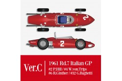 1/12 Full Detail Ferrari 156 'SHARK NOSE' Ver. C - K644