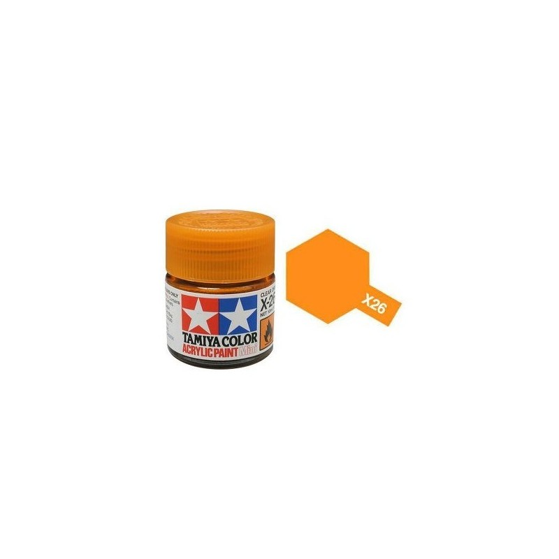 Tamiya Acrylic Mini X 26 Clear Orange 10ml Jar