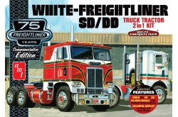 1/25 White Freightliner 2'n1 Cabover 75th Anniversary - 1046