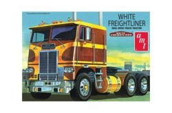 1/25 White Freightliner Dual Drive Cabover Tractor -  AMT620