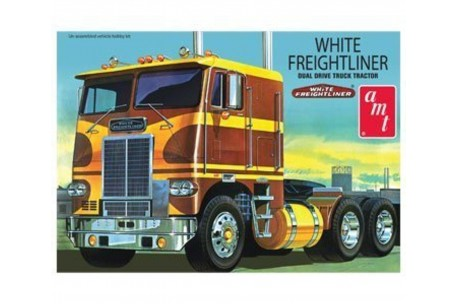 1/25 White Freightliner Dual Drive Cabover Model Kit | 620