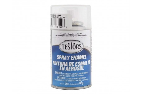 Testors 1814 Spray Enamel Paint, Clear Coat 3 oz